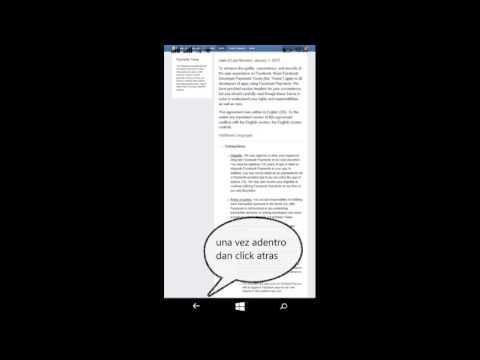 Como cerrar sesión en Facebook Messenger en Windows Phone 8.1 desde la misma app