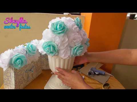 Como hacer arreglo floral, vintage, flores de papel, centro de mesa temática, decoracion de fiesta