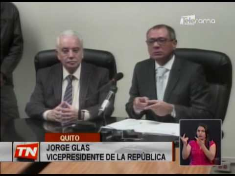 Jorge Glas pide investigación de denuncias de supuesta corrupción