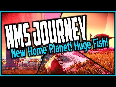 NO MAN'S SKY JOURNEY PART 7 ✦ My New Home Planet! Huge Underwater Creature!