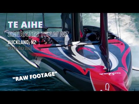 Team NZ 'Te Aihe' training - with some close up action