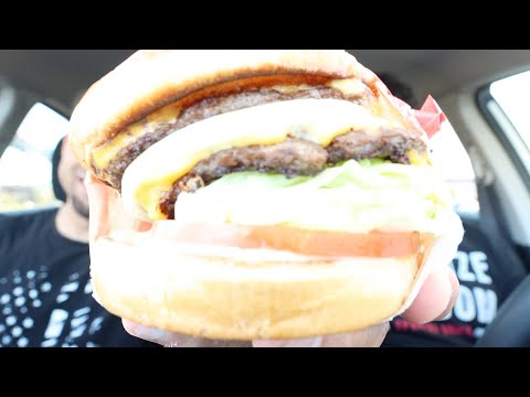 Eating In-N-Out's Double Double Burger!