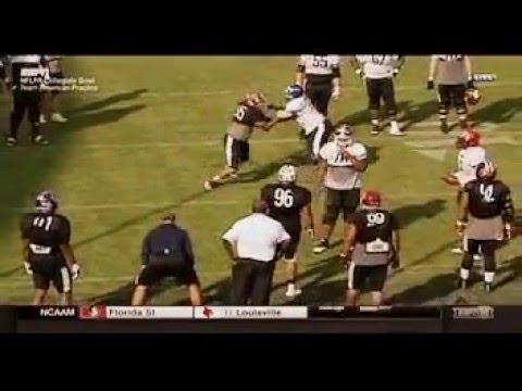 2016 NFLPA Collegiate Bowl: Team American Practice - 1 on 1 OL vs. DL Drills