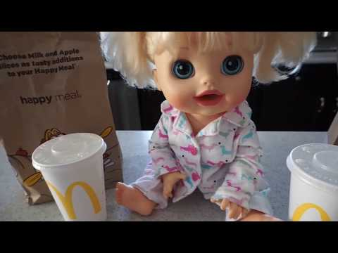 Baby Alive Flushes Mcdonalds Down Toilet Baby Alive