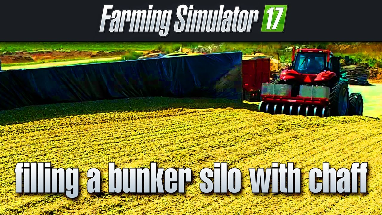 How to: fill up a bunker silo with silage (Farm Simulator 17)