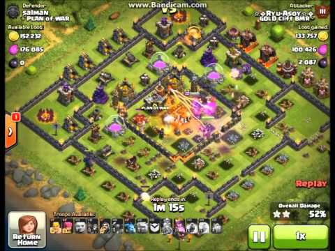 Clash of Clans - BEST ATTACK STRATEGY - Townhall Level 10 ( Ryu Asoy - Gold Clift BMR )