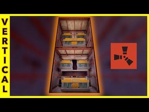 Rust Raids: VERTICAL STACKED LOOT ROOM | NEW BUILDING BLOCKED UPDATE
