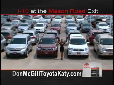 Don McGill Toyota of Katy Used Car mercial with Amber