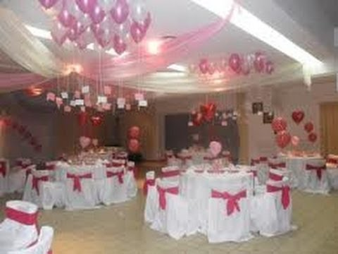 Decoraci n con telas para 15 a os 5 youtube - Decoraciones de salon ...