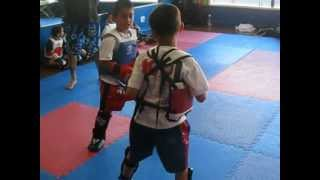 KIDS MUAY THAI SPARRING AT KO1 FITNESS PART 5