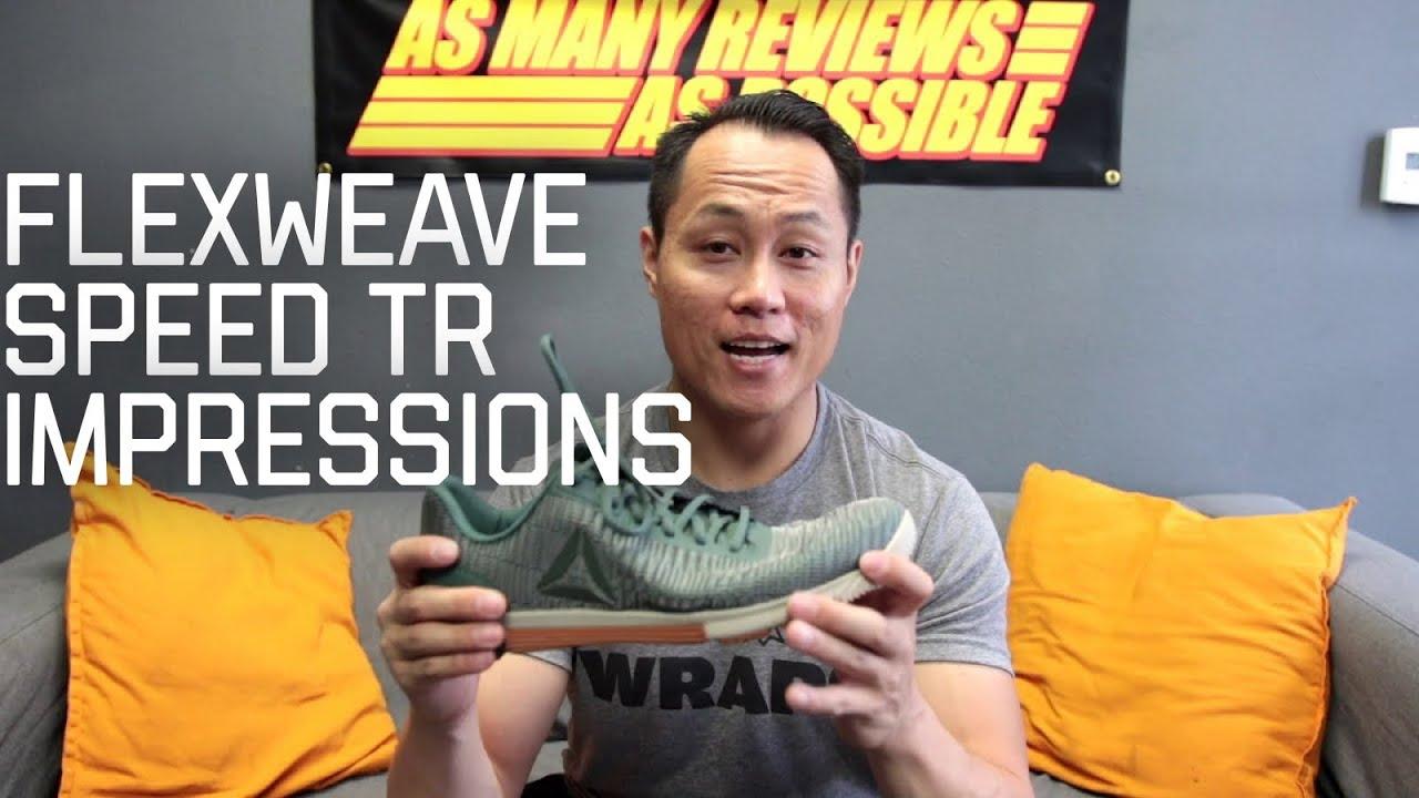 0cf471ed891 Reebok Flexweave Speed TR Impressions - YouTube
