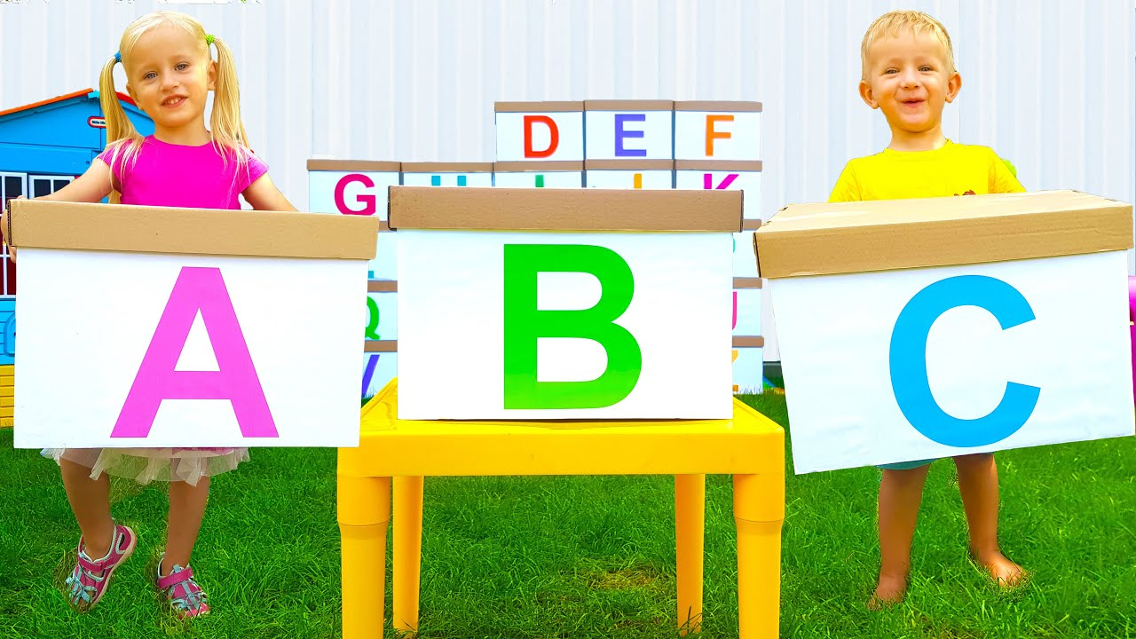 Learn ABC Alphabet + More children's songs by Katya and Dima