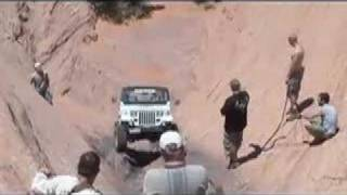 Stupid guy in Jeep