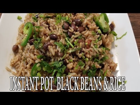 INSTANT POT BLACK BEANS & RICE | VEGAN | Pressure Luck 101
