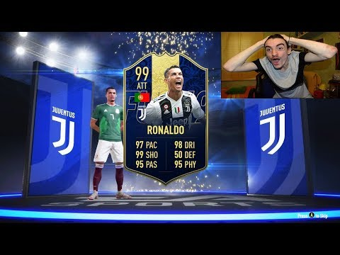 😱 CRISTIANO RONALDO TOTY 99 + MESSI TOTY 99 IN A PACK !!! TOP 5 BEST PACK OPENING! FIFA 19 ITA #113