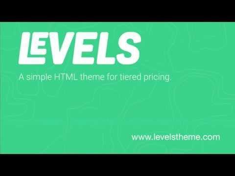 Levels HTML Theme