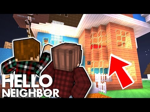 Minecraft Hello Neighbor - How To Get To The Second Floor (Minecraft Roleplay)