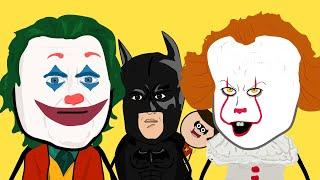 JOKER & IT (PENNYWISE) VS BATMAN & ROBIN - FILM PARODIA