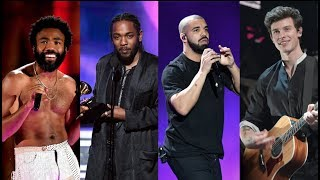 SWIFTY SNUBBED: Gambino, Kendrick, Drake and Mendes make Grammy noise!