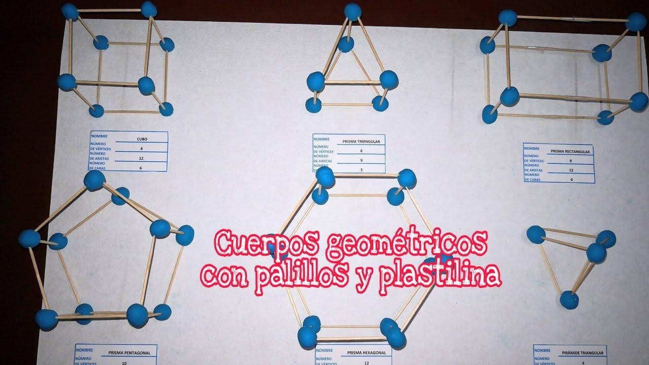 Cuerpos Geométricos Con Palillos Y Plastilina Youtube