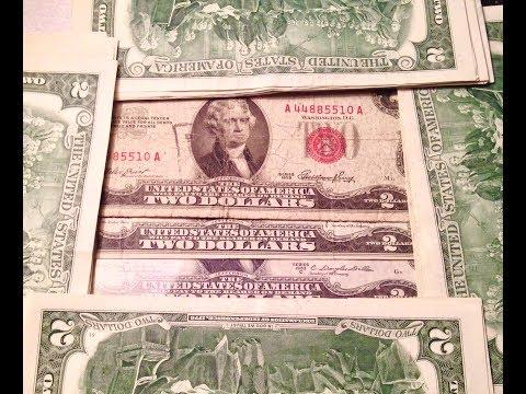 1928 & 1953 Red Seal Two Dollar Bills