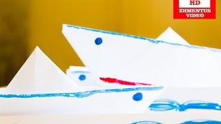 Как сделать кораблик из бумаги. Поделки из бумаги - Оригами(В видео показано как сделать кораблик из бумаги своими руками за одну минуту. Эту бумажную поделку сделают..., 2014-10-20T08:23:43.000Z)