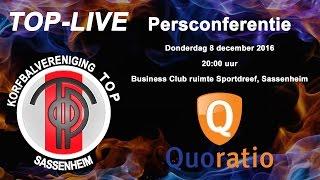 Persconferentie TOP/Quoratio, donderdag 8 december 2016