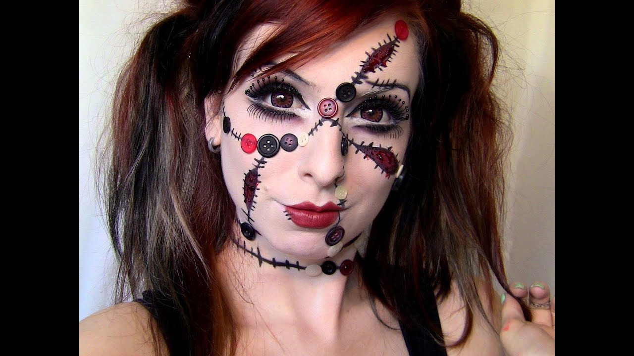 Maquillage halloween poup e - Maquillage poupe demoniaque ...