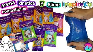 Arena kinetica comestible intento hacer slime dulces inspireka