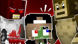 Monster School Kids Mobs: GRANNY VS TEMPLE RUN GAME CHALLENGE - Minecraft Animation