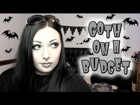 Goth on a Budget - $1 Makeup/Accessory Haul!   Toxic Tears