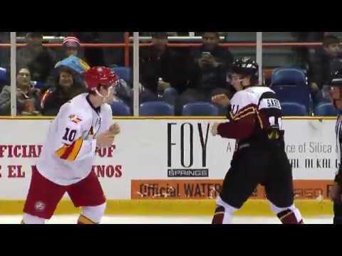 2018 02 11 El Paso Rhinos Hockey Chaseton Sare Fight Youtube