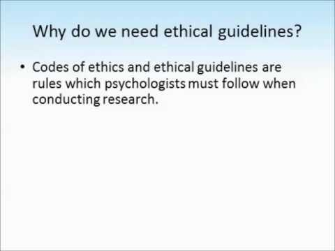 Ethics in psychology tutorial