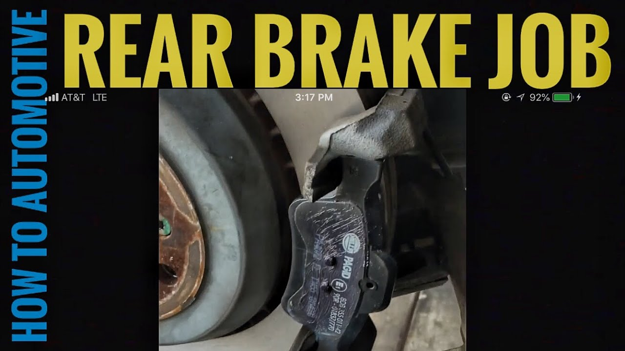 How to Replace Rear Brake Pads, Machine Rotors, and Sensors on a 2010  Mercedes GL450