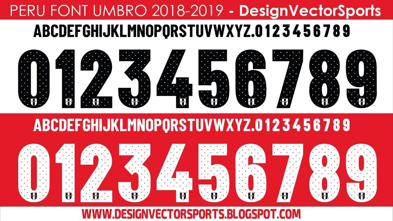 2019 Designvectorsports Peru Youtube Font 2018 Umbro qtxT8Bw0R