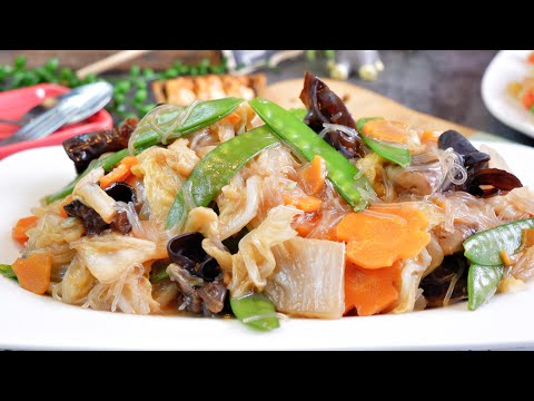 Super Easy Buddha's Delight 罗汉斋 Vegetarian Stir Fry Mixed Vegetable Recipe - Luo Han Zhai