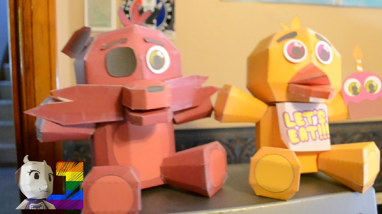 Papercraft [#FnafCraft]: Plush papercraft Showcase!
