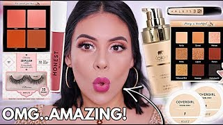 NEW DRUGSTORE MAKEUP TESTED: FIRST IMPRESSIONS + FULL DAY WEAR TEST!   JuicyJas