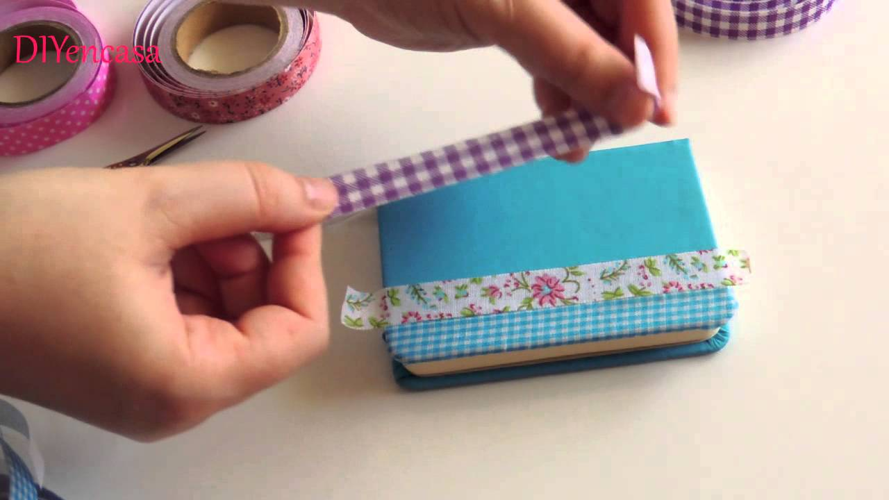 Diy como decorar tu libreta con fabric tapes notebook for Como decorar tu porche