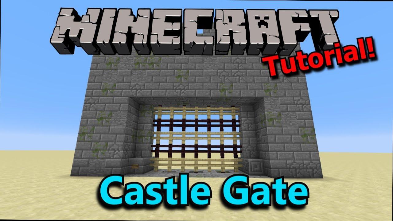 Tutorial Minecraft Poor Man S Castle Gate Youtube