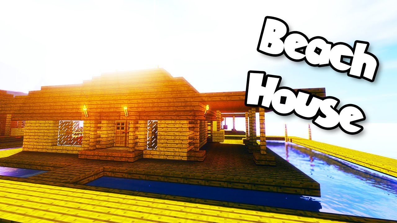 How to Build a Simple Beach House in Minecraft!