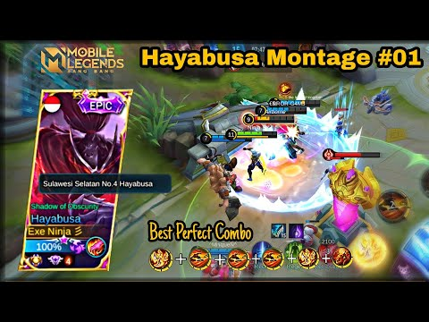 Hayabusa Perfect Combo || Montage  Ranked Highlight 🔥|Best Moments, Mobile Legends.
