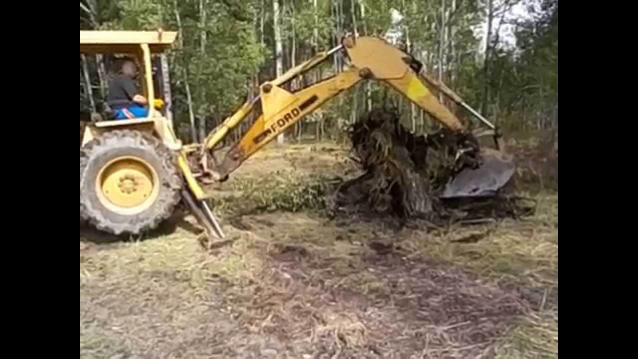 hight resolution of ford 555 backhoe video 2