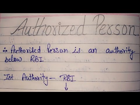 4.2   Authorised Person   Power and duties of authorised Person   contravention of authorised person