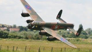 giant 1 6 scale rc avro lancaster 17ft span mwm warbirds model aircraft show bartons point 2012