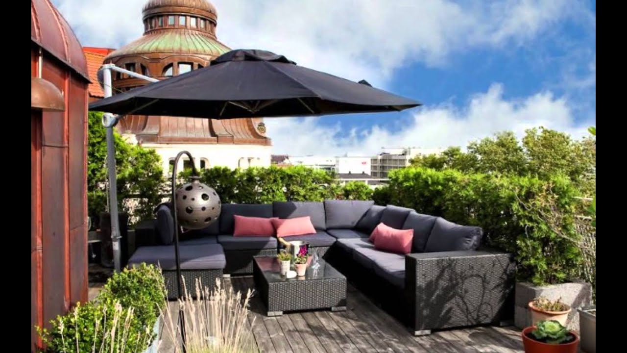 Rooftop terrace interior design youtube for Deco terras design