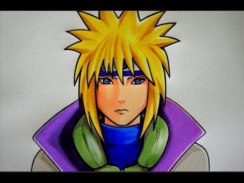 Como Dibujar A Minato Pintado Con Copic Colors Youtube