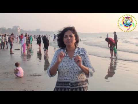 Different people's culture dresses at different beach at Juhu, Mumbai India