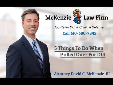 5 Things to Do When Pulled Over for DUI