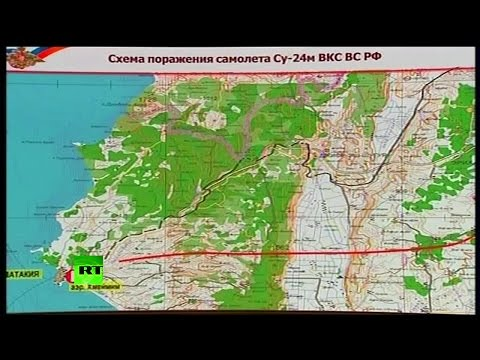 MAP: Russian defense ministry presents Russian Su-24 crash